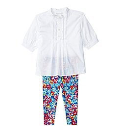 Ralph Lauren® Baby Girls' 2-Piece Top And Floral Leggings Set
