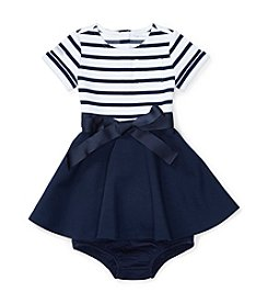 Ralph Lauren® Baby Girls' Striped Bodice Dress