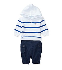 Ralph Lauren® Baby Boys' 2-Piece Striped Hoodie and Cargo Joggers