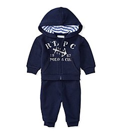 Ralph Lauren® Baby Boys 2-Piece Nautical Hoodie And Joggers Set