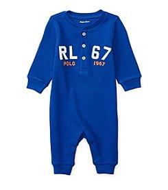 Ralph Lauren® Baby Boys Waffle Henley Coverall
