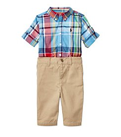 Ralph Lauren® Baby Boys 2-Piece Plaid Shirt And Pants Set