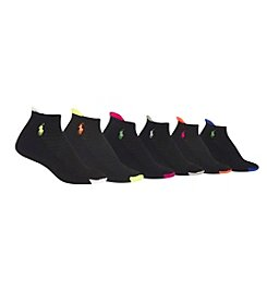 Polo Ralph Lauren® 6-Pack Flat Knit Low Cut Sport Socks