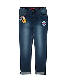 Lee® Girls' 7-16 Embroidered Patch Skinny Jeans