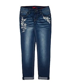 Lee® Girls' 7-16 Floral Embroidered Skinny Jeans