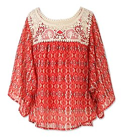 Speechless® Girls' 7-16 Crochet Trim Circle Top