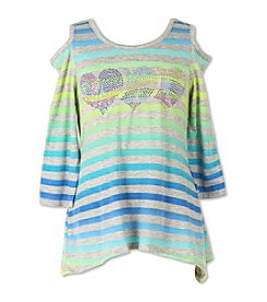 Speechless® Girls' 7-16 Hearts Cold Shoulder Top