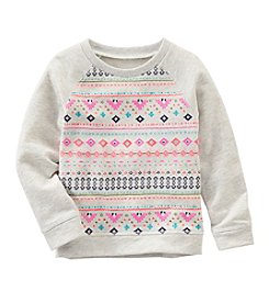 OshKosh B'Gosh® Girls' 2T-8 Geo Sweatshirt