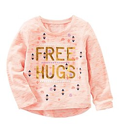 OshKosh B'Gosh® Girls' 2T-8 Free Hugs Tee