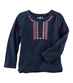 OshKosh B'Gosh® Girls' 2T-8 Embellished Henley
