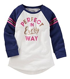 OshKosh B'Gosh® Girls' 2T-8 Perfect Raglan Tunic