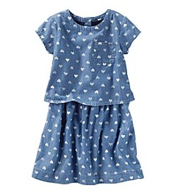 OshKosh B'Gosh® Girls' 2T-8 Heart Popover Dress