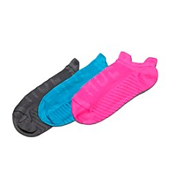 HUE® 3-Pack Air Sleek Front &  Back Socks