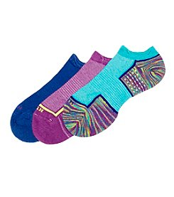 HUE® 3-Pack Air Cushion 3D Sole Socks