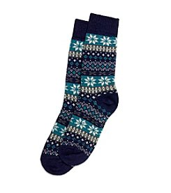 HUE® Fairisle Stripe Boot Socks