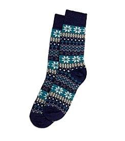 HUE® Fairisle Stripe Boot Socks