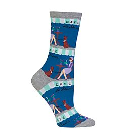 Hot Sox® Paris Cafe Crew Socks