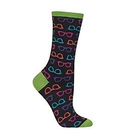 Hot Sox® Glasses Crew Socks