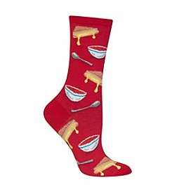 Hot Sox® Grilled Cheese And Tomato Soup Crew Socks