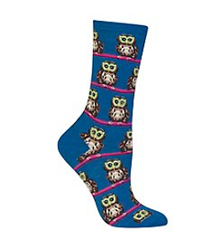 Hot Sox® Owl With Glasses Crew Socks