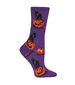 Hot Sox® Cat And Pumpkin Socks
