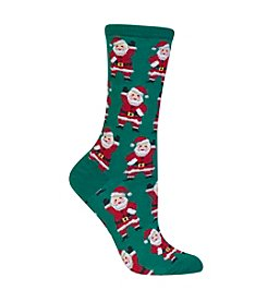 Hot Sox® Waving Santa Crew Socks
