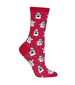 Hot Sox® Snowman Crew Socks