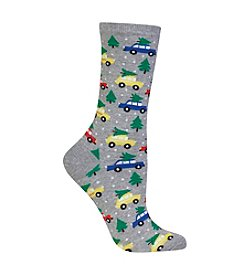 Hot Sox®Trees On Cars Dress Socks