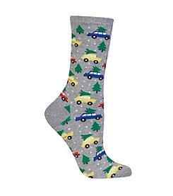 Hot Sox®Trees On Cars Dress Socks