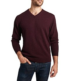 Weatherproof® Men's Cashmere Solid V-Neck Sweater
