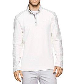 Calvin Klein Men's Long Sleeve 1/4 Button Pullover