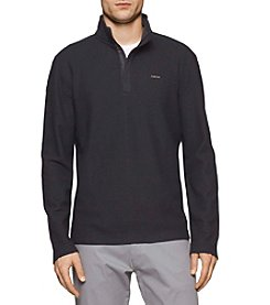 Calvin Klein Men's Long Sleeve Solid Mock Neck Pullover