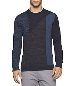 Calvin Klein Men's Merino Acrylic Parallel Lines Sweater