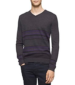 Calvin Klein Men's Merino Acrylic Stripe Sweater