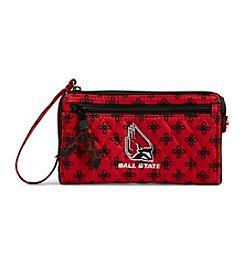 Vera Bradley® NCAA® Ball State Cardinals Front Zip Wristlet