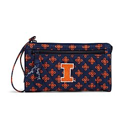Vera Bradley® NCAA® Illinois Fighting Illini Front Zip Wristlet