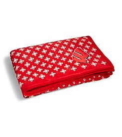 Vera Bradley® NCAA® Wisconsin Badgers XL Throw Blanket