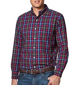 Chaps® Men's Big & Tall Long Sleeve Easy-Care Button Down Shirt