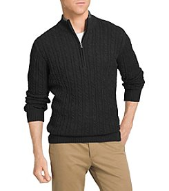 Izod® Men's Big & Tall Cable Knit Mock Neck 1/4 Zip Sweater