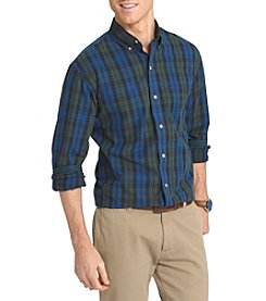 Izod® Men's Big & Tall Black Watch Long Sleeve Button Down Shirt