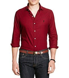 Polo Ralph Lauren® Men's Slim Fit Checked Twill Button Down Shirt