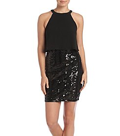 GUESS Popover Sequin Dress