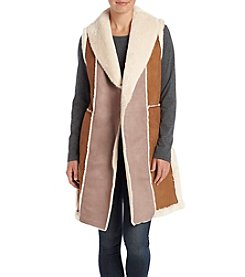 DKNY® Faux Lamb Suede Vest
