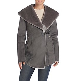 Ivanka Trump® Asymmetrical Faux Fur Lined Jacket