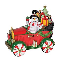 Fitz and Floyd® Holiday Musical Top Hat Frosty Musical Tune: We Wish You a Merry Christmas