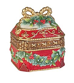 Fitz and Floyd® Yuletide Holiday Lidded Box