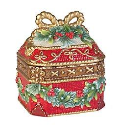 Fitz and Floyd® Yuletide Holiday Lidded Box