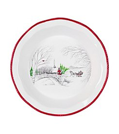 Fitz and Floyd® Vintage Holiday Pie Plate