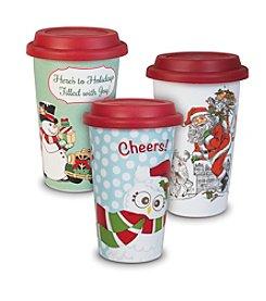 Fitz and Floyd® Travel Mug Assorted Set of 3