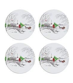 Fitz and Floyd® Set of 4 Vintage Holiday Trivet